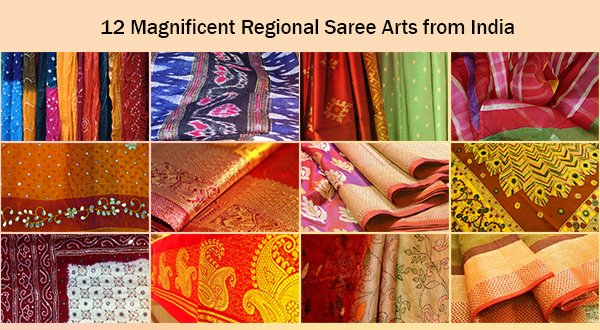 12 magnificent Regional Saree Arts from India - saree.com