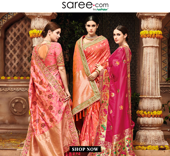 Bridesmaids in Pink shade Saree