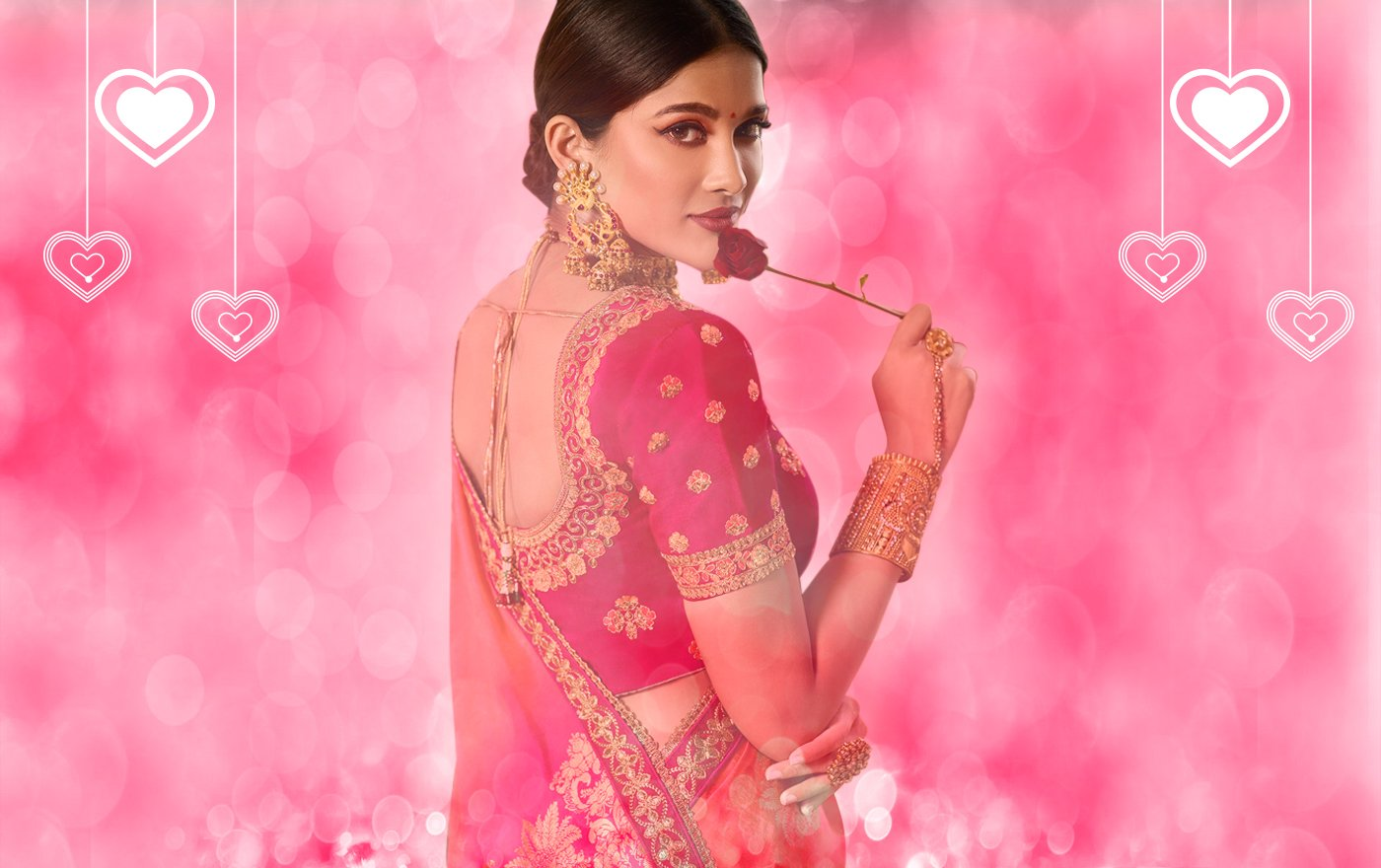 Valentine Vivacity – Ethnic Outfits, Sarees, Suits and Fusion-wear for Valentine's Day