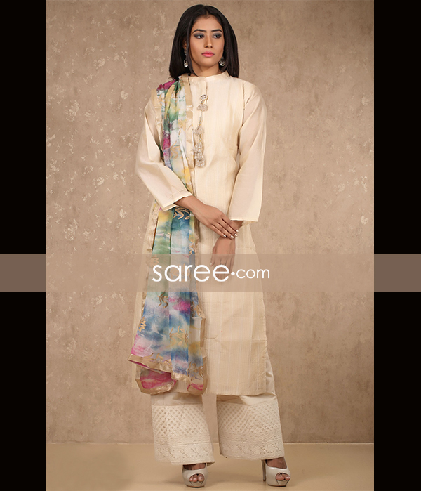 Beige Cotton Suit