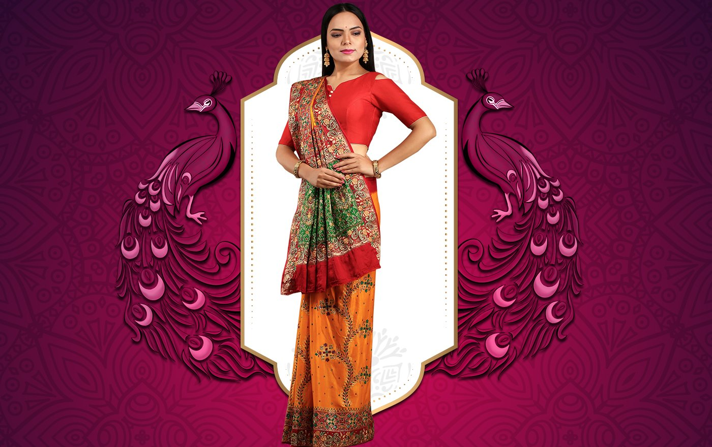 Gharchola Sarees- The Homecoming Bridal Attire