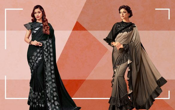 Ruffle Sarees Region All Over Bollywood