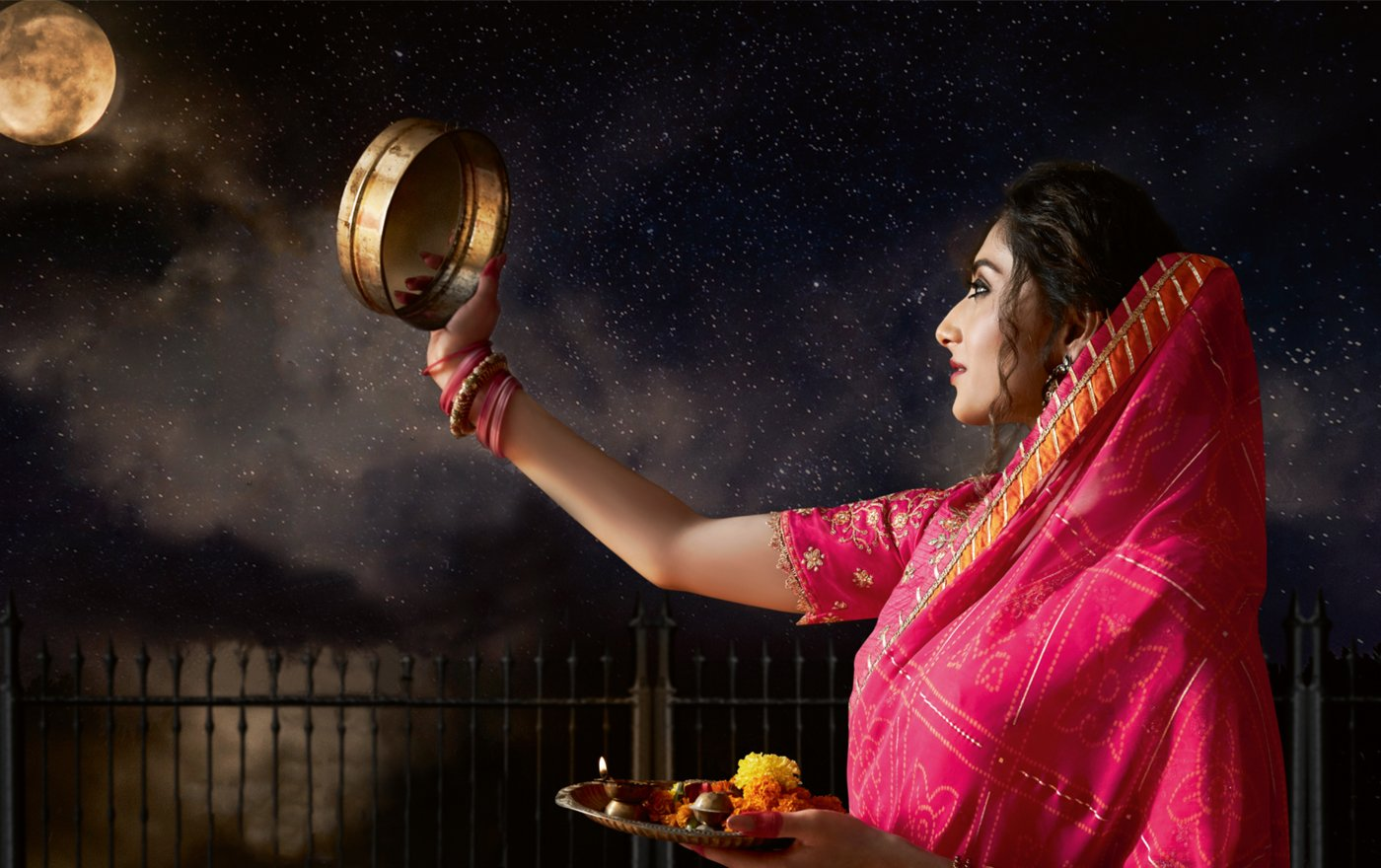 5 sarees to style this Karva Chauth